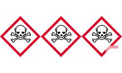 Stickers  / Autocollant série empoisonnent rapidement 2