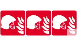 Stickers  / Autocollants équipement de lutte contre l'incendit 2