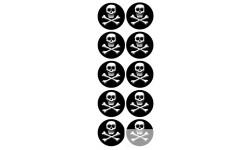 Stickers / autocollants tête mort 3D