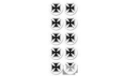 Stickers / autocollants Croix de Malte 8
