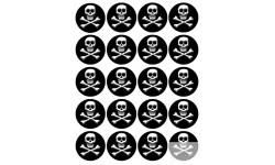 Stickers / autocollants tête mort 3D 2