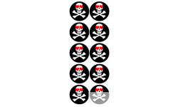 Stickers / autocollants tête mort Crâne d'amour