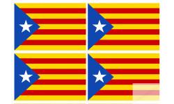 drapeau officiel Catalan avec etoile