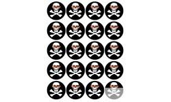 Stickers / autocollants tête mort pirate d'amour 2