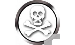 Stickers / autocollants tête mort surveille 3