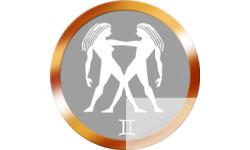 Stickers / autocollant  signes du zodiaque gémeaux