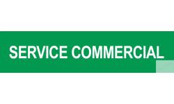 Autocollant SERVICE COMMERCIAL vert