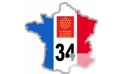 autocollant FRANCE 34