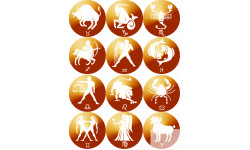 Stickers / autocollants famille signes du zodiaque 1