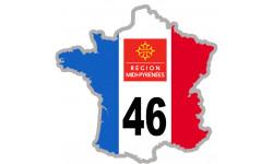 autocollant FRANCE 46