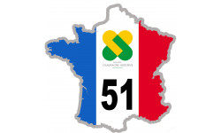 autocollant FRANCE 51