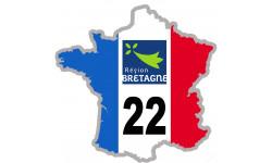 autocollant FRANCE 22