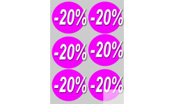 Stickers / autocollants Ronds 20% 2