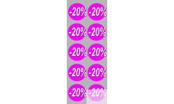 Stickers / autocollants Ronds 20% 4
