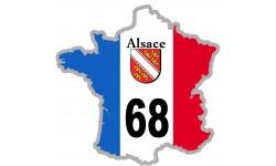 sticker / autocollant FRANCE 68