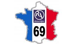 sticker / autocollant FRANCE 69