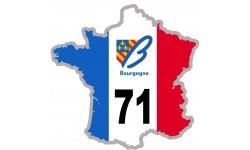 sticker / autocollant FRANCE 71