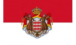 autocollant drapeau Monégasque