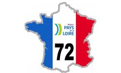 sticker / autocollant FRANCE 72