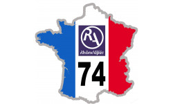 sticker / autocollant FRANCE 74 Rhône Alpes