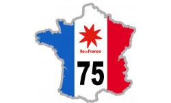 sticker / autocollant FRANCE 75 Région Ile de France