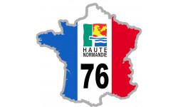sticker / autocollant FRANCE 76 Région Haute Normandie