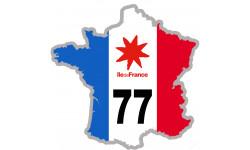 sticker / autocollant FRANCE 77 Région Ile de France