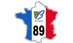 sticker / autocollant FRANCE 89 Région Bourgogne