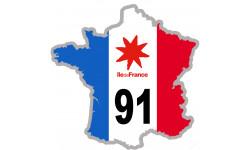 sticker / autocollant FRANCE 91 Région Ile de France