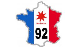 sticker / autocollant FRANCE 92 Région Ile de France