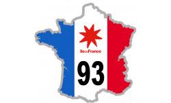 sticker / autocollant FRANCE 93 Région Ile de France