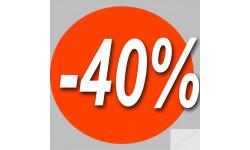 Stickers / autocollant Rond 30%