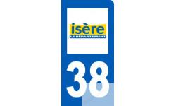 autocollant immatriculation 38 de l'Isère