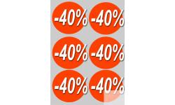 Stickers / autocollants Ronds 30% 2