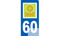autocollant immatriculation motard 60 de l'Oise