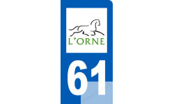autocollant immatriculation motard 61 de l'Orne