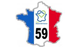 sticker autocollant 59 France région Hauts-de-France