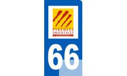 autocollant immatriculation motard 66 des Pyrénées Orientales