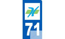 autocollant immatriculation motard 71 de la Saône et Loire