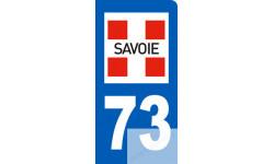 autocollant immatriculation motard 73 de la Savoie