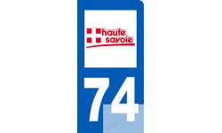 autocollant immatriculation motard 74 de la Haute-Savoie