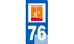 autocollant immatriculation motard 76 de la Seine Maritime