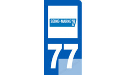 autocollant immatriculation motard 77 de la Seine et Marne