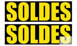 Stickers / autocollants solde IMPACT jaune et noir