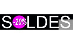 Stickers / autocollant solde design 70%