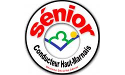 Sticker autocollant conducteur Sénior Haut-Marnais