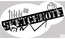 Sticker autocollant sketchnote
