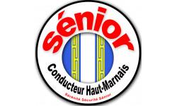 Sticker autocollant conducteur Sénior Blason Haut-Marnais