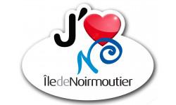 Sticker autocollant j'aime l'Ile de Noirmoutier