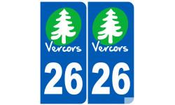 autocollant numéro immatriculation 26 (la Drôme) Vercors